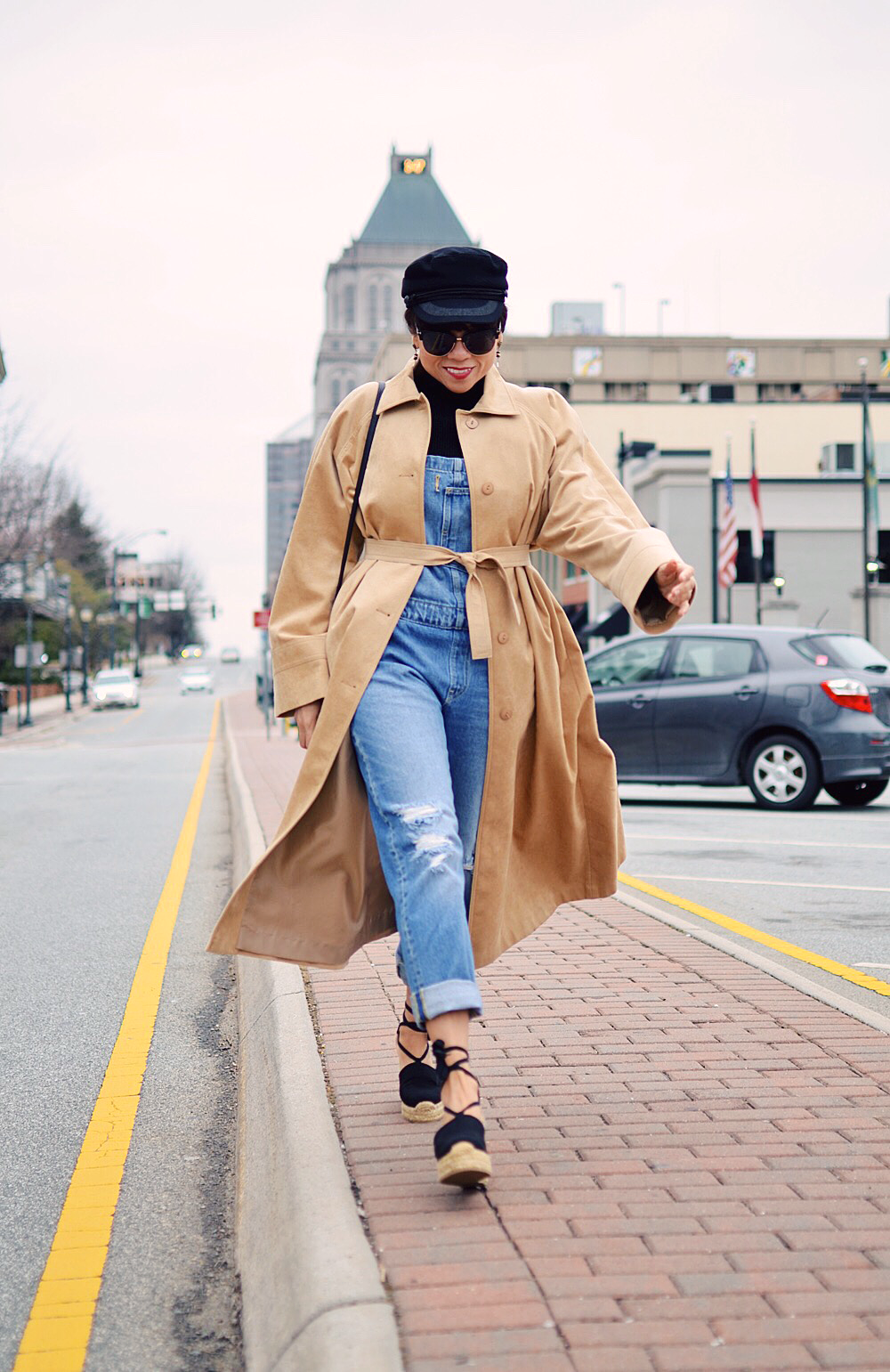 Suede with denim street style