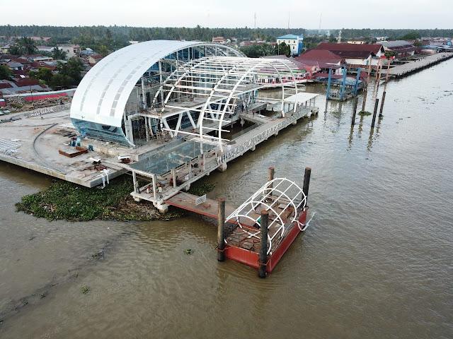 Pelabuhan Teluk Nibung Tanjungbalai-Asahan yang semakin cantik sejak direnovasi.