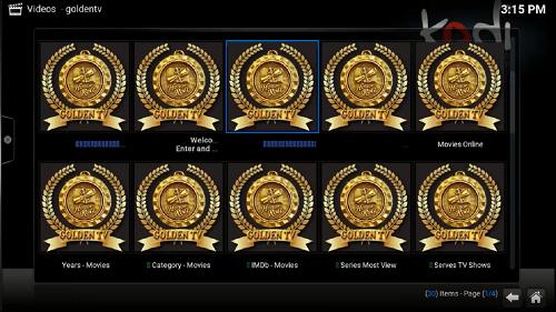 تحديث إضافة Golden IPTV لمشاهدة أفضل القنوات على برنامج KODI