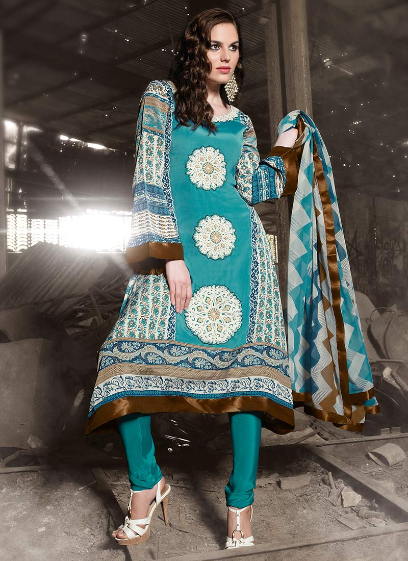 Bewitching Cotton Churidar Suit