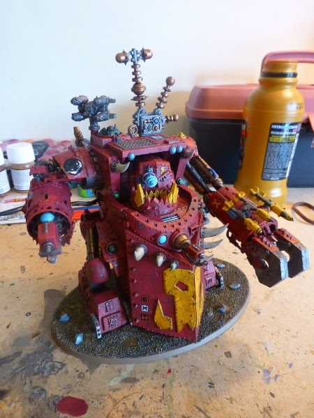 40K WIP ork morkanaut ready for pigments 1
