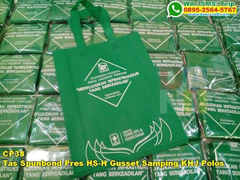 Harga Tas Spunbond Pres HS-H Gusset Samping KHJ Polos
