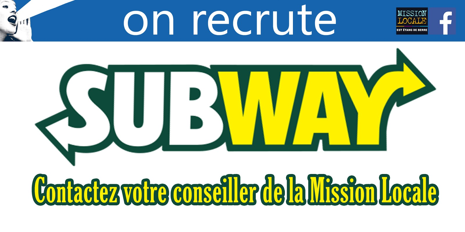 Subway recrute for Mission locale salon de provence