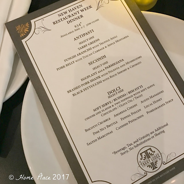 "Tarry Lodge 2017 Spring ""Restaurant Week"" Menu"