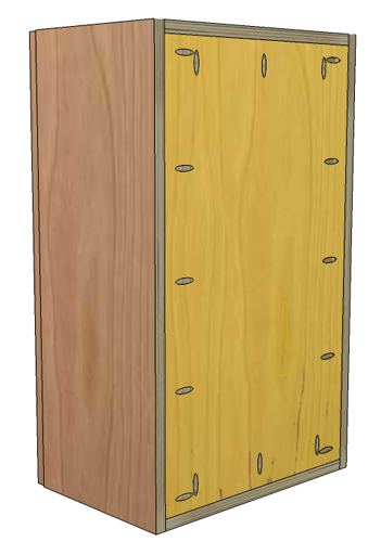 Charming The Back Of Our Frameless Cabinet Fits In Between Both Sides And The Top  And The Bottom. To Determine The Width Of The Back We Need To Subtract The  ... Great Pictures
