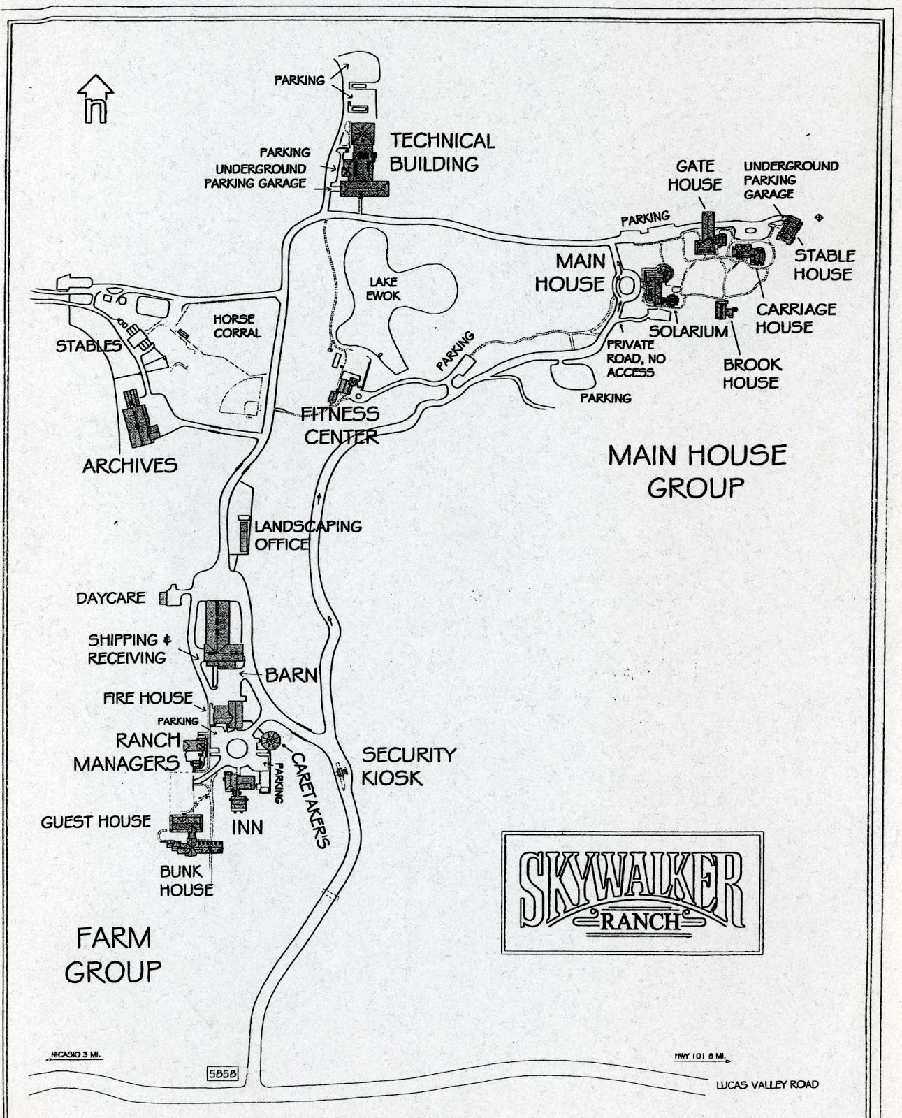 Skywalker Ranch Map
