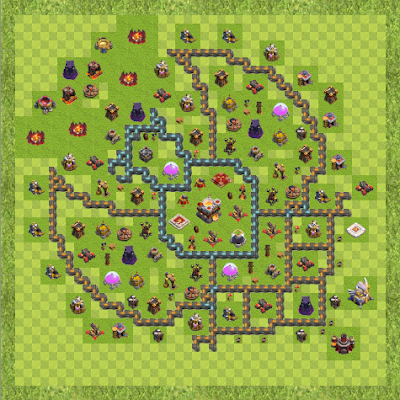 War Base Town Hall Level 11 By Nelson Crowe (Face TH 11 Layout)