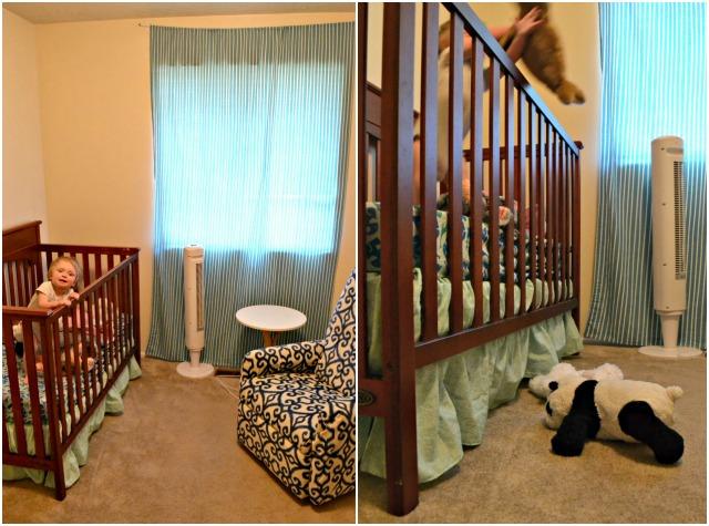 Home Decor: DIY Mint Crib Skirt