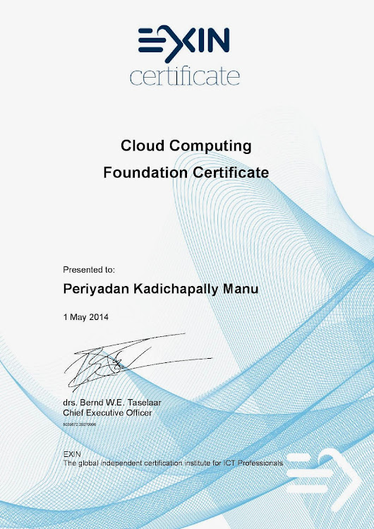 The Object Oriented Life: EXIN Cloud Computing Foundation Exam Review