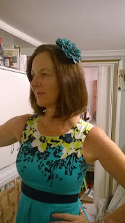 Angela and her Fascinator Zena Kennedy Independent Stampin Up Demonstrator