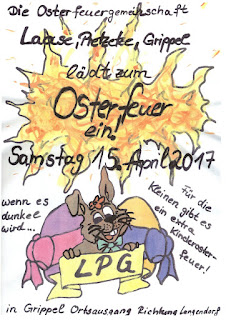 Flyer Osterfeuer Grippel
