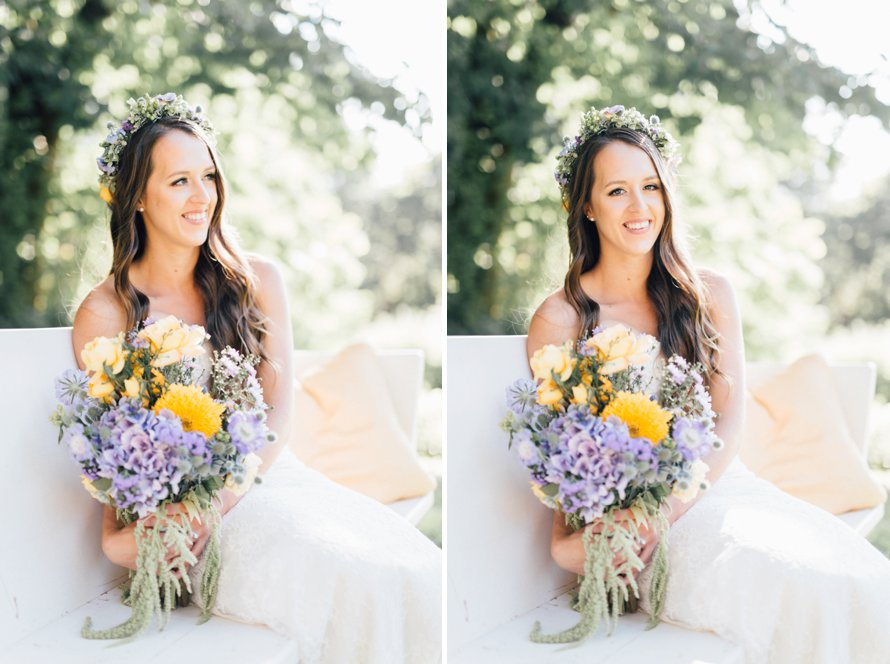 Oregon Wildflower Backyard Wedding by Something Minted Photography