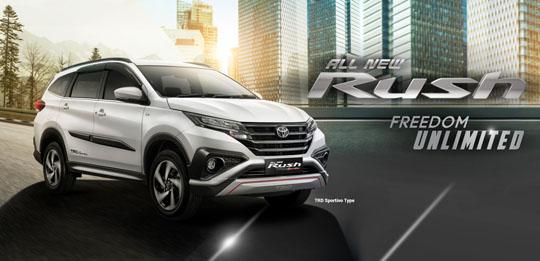 Harga Toyota All New Rush di Jakarta, Bogor, Depok, Tangerang, Bekasi, Serang 2019