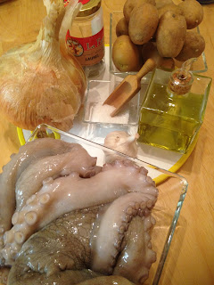 Pulpo a Lagareiro, ingredientes