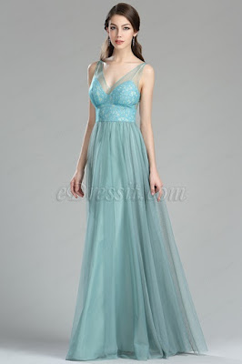 green lace bridesmaid dress v neck