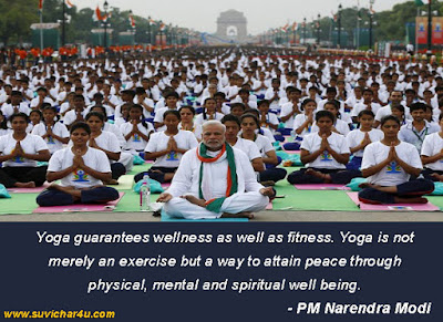 PM of India, Narendra Modi, Yoga Quotes