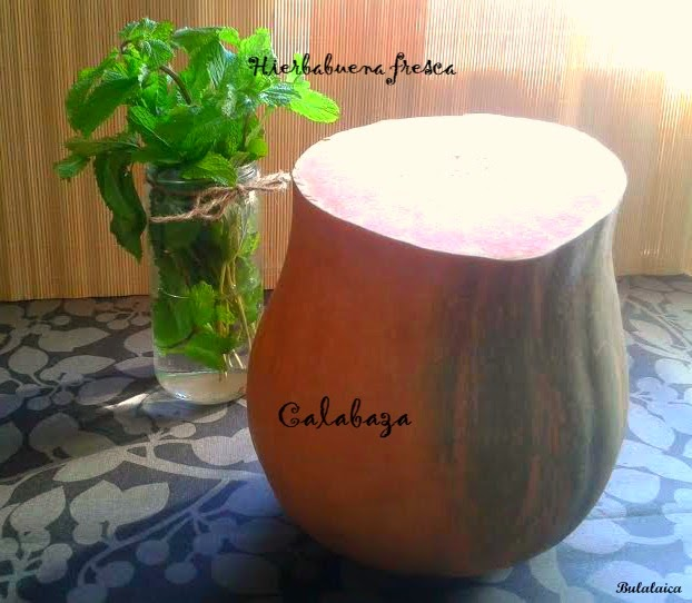 Crema de Calabaza con Yogurt y Hierbabuena