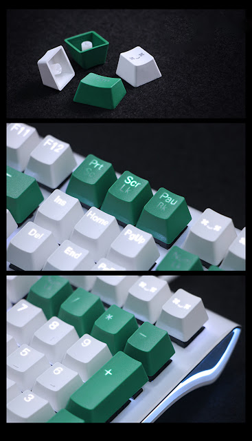 Pbt double shot keycaps for chery mx keyboard 104 keys for Decoration none