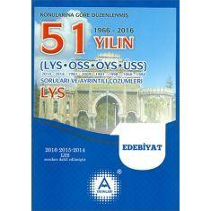 AYayınları LYS Edebiyat 51 Yılın Soruları ve Ayrıntılı Çözümleri (2017)