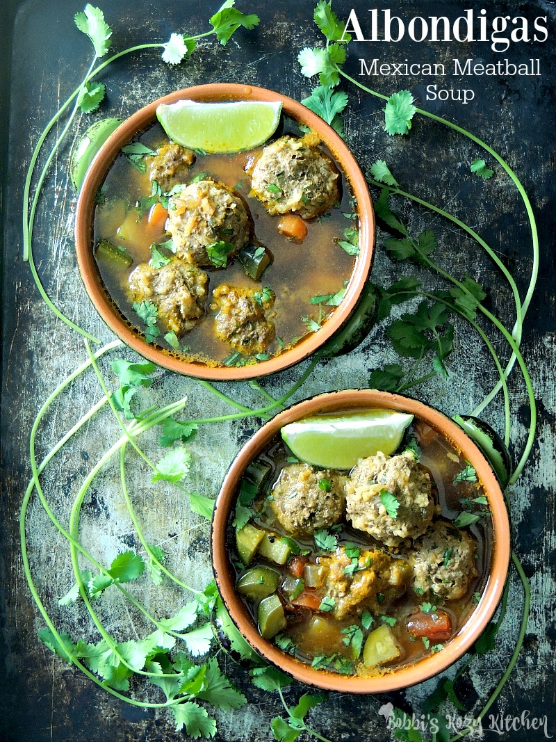 Albondigas Mexican Meatball Soup Bobbi S Kozy Kitchen