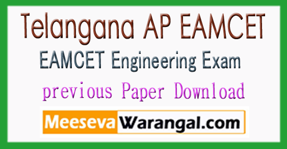 Telangana AP EAMCET Previous Papers With Answers Pdf Download