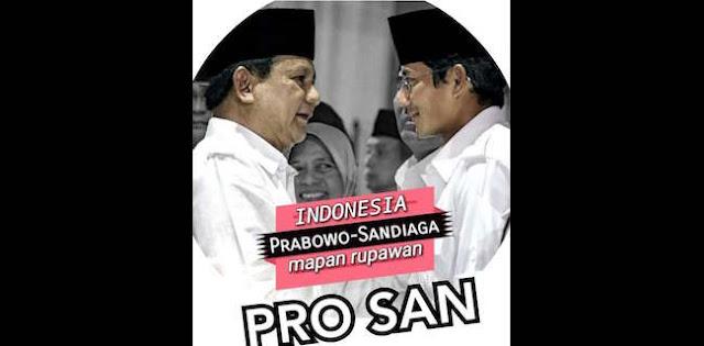 Disebut Jenderal Kardus, Poster Prabowo-Sandiaga Uno Sudah Beredar