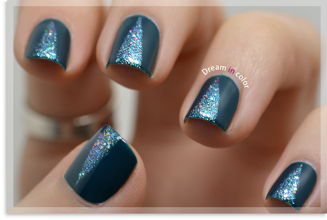 Nail art Triangles paillettes