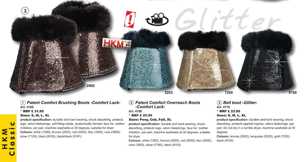 HKM glitter over reach boots