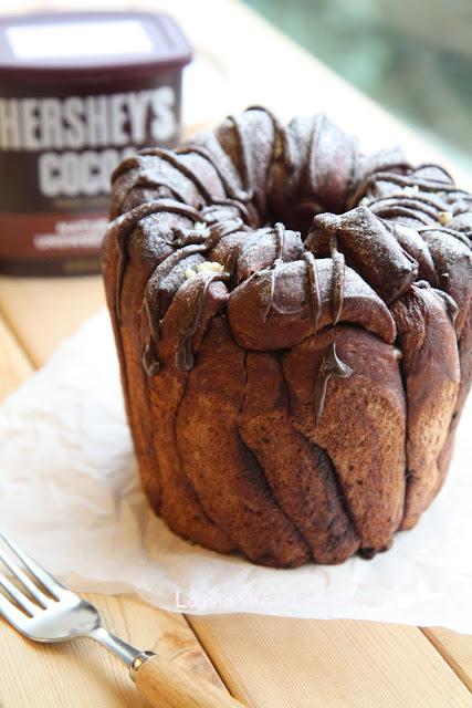 Hershey's -- 千層巧克力麵包 (兩種造型 --麵包機/戚風模)