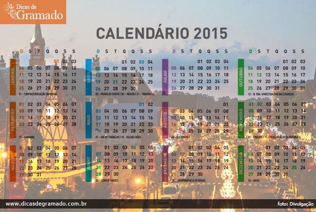 Calendário completo de eventos em Gramado para 2015
