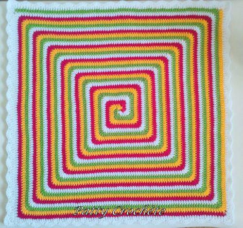 Solid Spiral Granny Square - Free Pattern