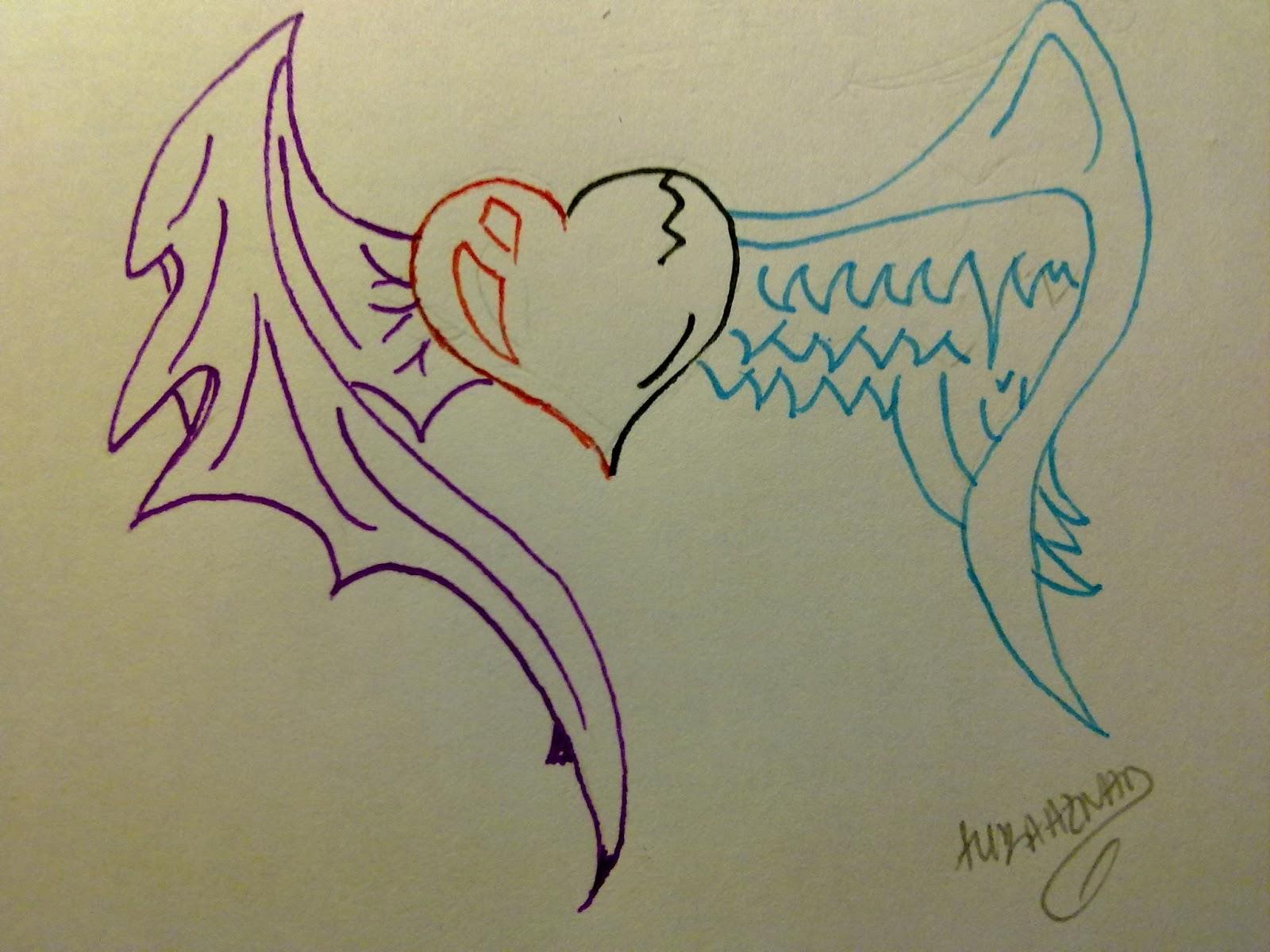 Dibujo Corazon A Lapiz