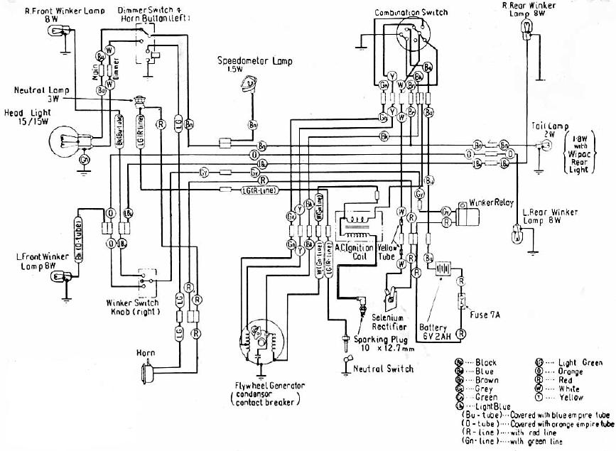 wiring of this motorcyclethis is standard honda motorcycle wiring