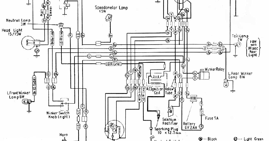 honda motorcycle wiring diagram symbols fluorescent strip light c100 all data modification ford electrical diagrams