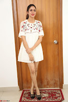 Lavanya Tripathi in Summer Style Spicy Short White Dress at her Interview  Exclusive 274.JPG