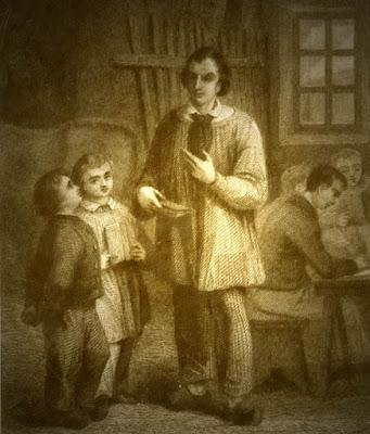 """""""L'école des pauvres"""", gravure anonyme, 1840"""