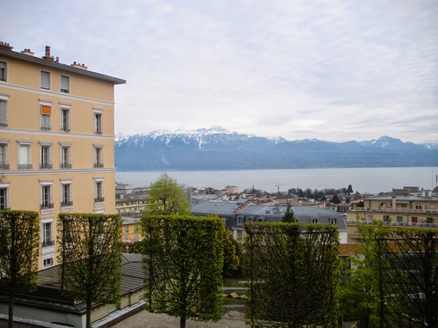 View of the Alps in Lausanne, Switzerland