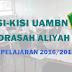 Kisi-Kisi dan POS UAMBN Madrasah Aliyah Tahun Pelajaran 2016-2017