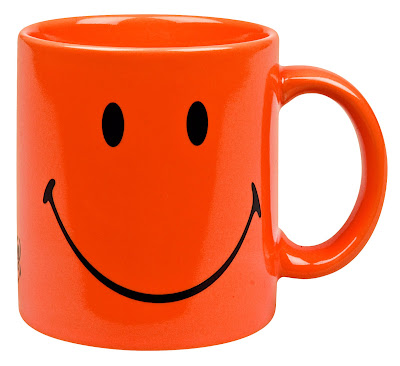 Orange Smiley Mug