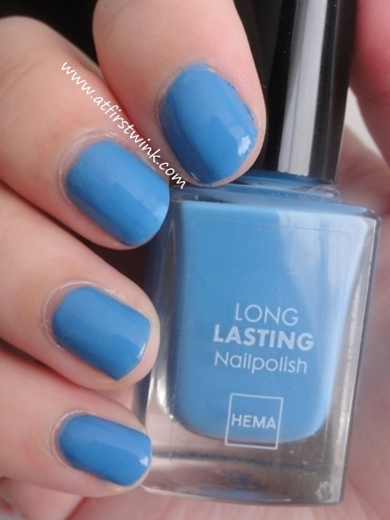 HEMA Long Lasting nail polish number 834 - Han Blue