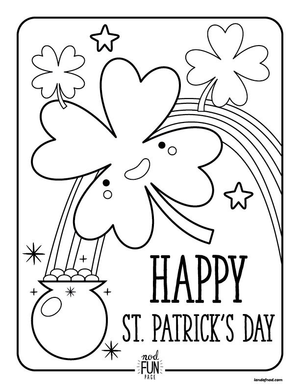 60 st patrick s day activities and coloring pages sunshine and