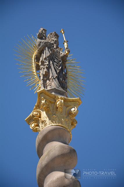 Kolumna Maryjna w Broumovie - atrakcje turystyczne, zabytki, ciekawe miejsca w Czechach, Czechy, Klasztor w Broumovie,