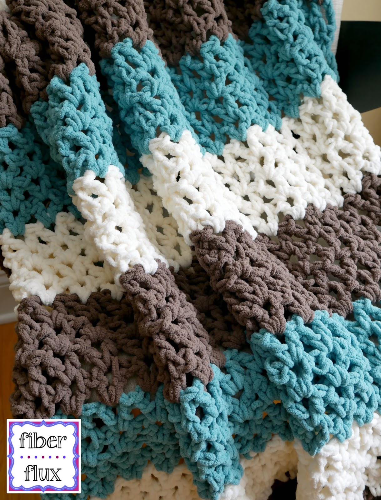 Fiber Flux Free Crochet Pattern Family Room Throw