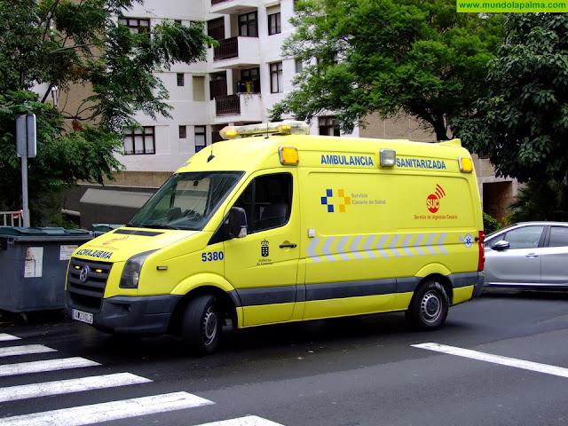Un motorista grave tras una colisión contra un vehículo en Breña Alta