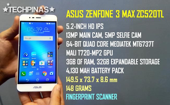 Asus ZenFone 3 Max Specs