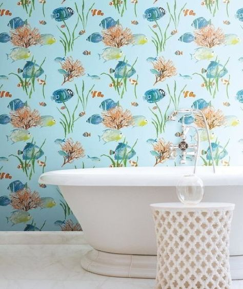 Under Sea Wallpaper is perfect for the Bathroom