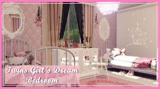 Lily Sims : Twins Girls Dream Bedroom