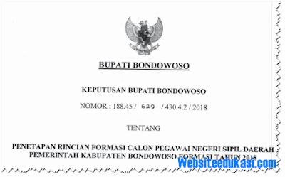 Formasi CPNS 2018 Kabupaten Bondowoso