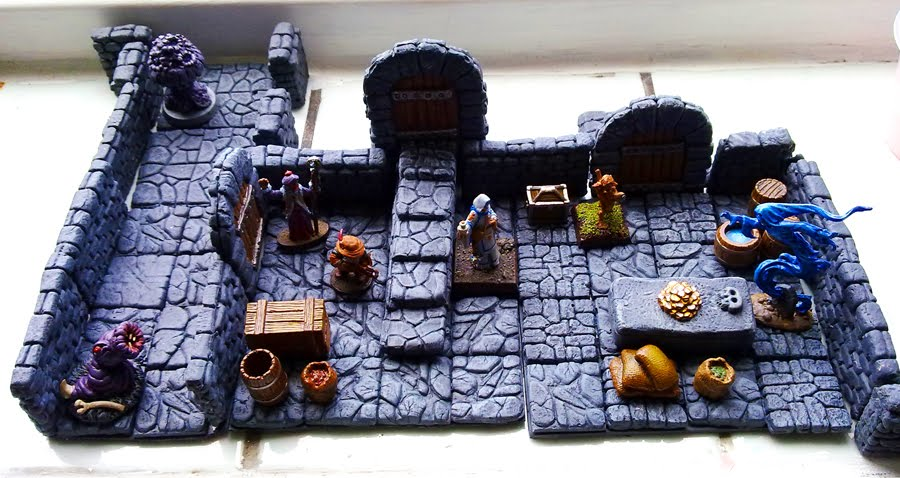 Dungeon Tiles, Flagstone floors, walls and Accessories