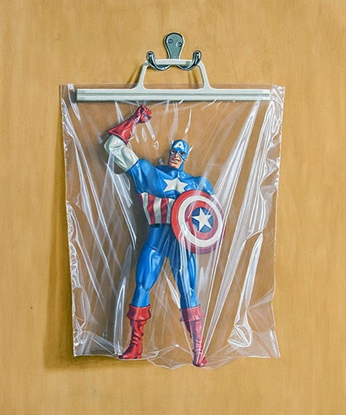 16-Steve-Rogers-Captain-America-Simon-Monk-Bagged-Superheroes-in-Painting-www-designstack-co